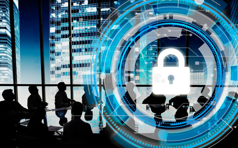 企业公司保护安全安全概念 图库摄影