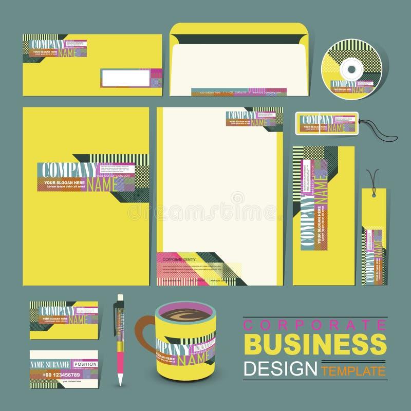 企业公司本体模板组成由线和小点 向量例证