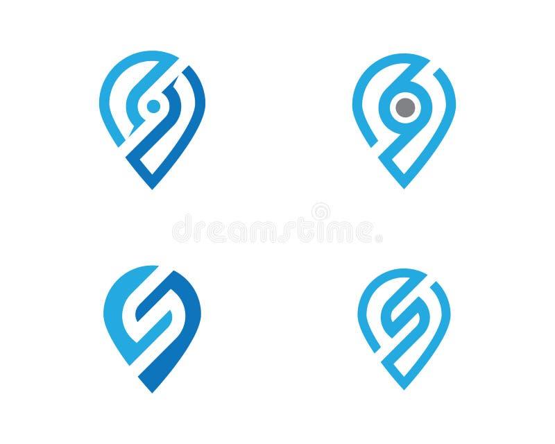 企业公司S信件商标设计传染媒介 皇族释放例证