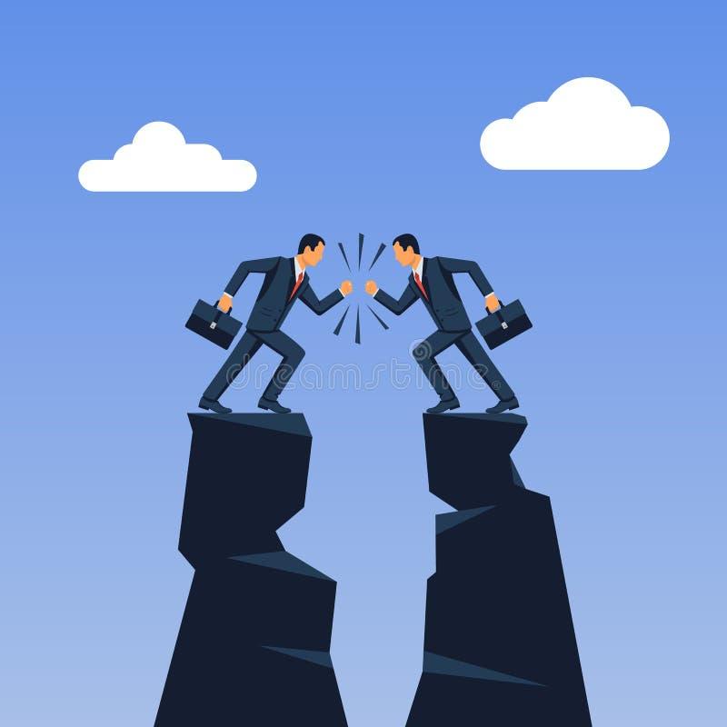 企业冲突概念 人的分歧 库存例证
