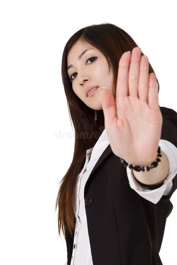 企业冷静妇女 免版税库存照片