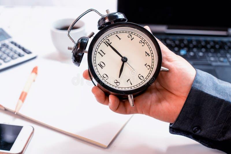 企业准时概念 天的重新开始 库存照片