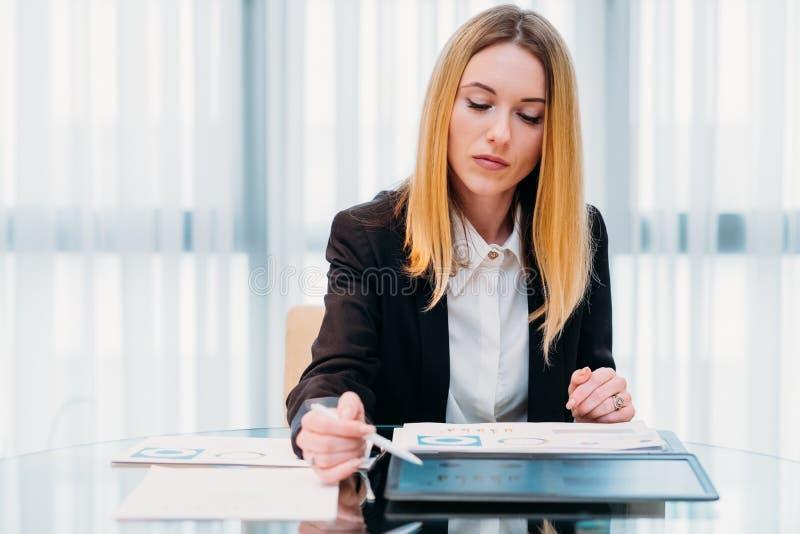 企业分析家报告裱糊图表信息 免版税库存照片