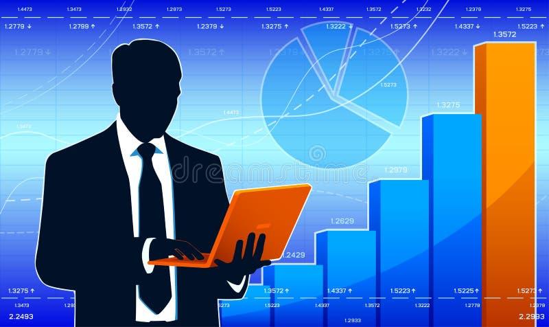 企业分析家 库存例证