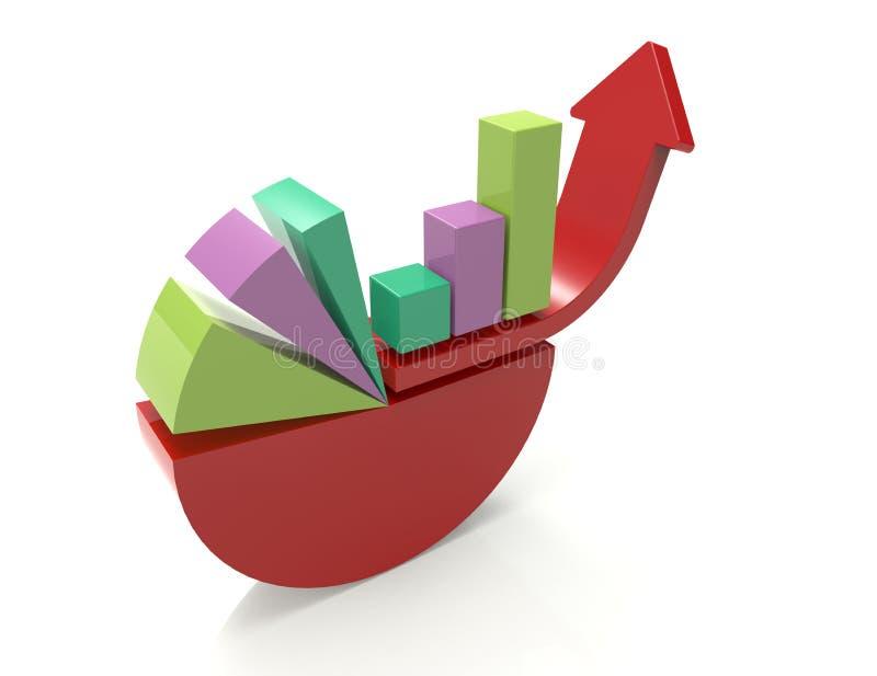 企业动态图形宏指令销售额 库存例证