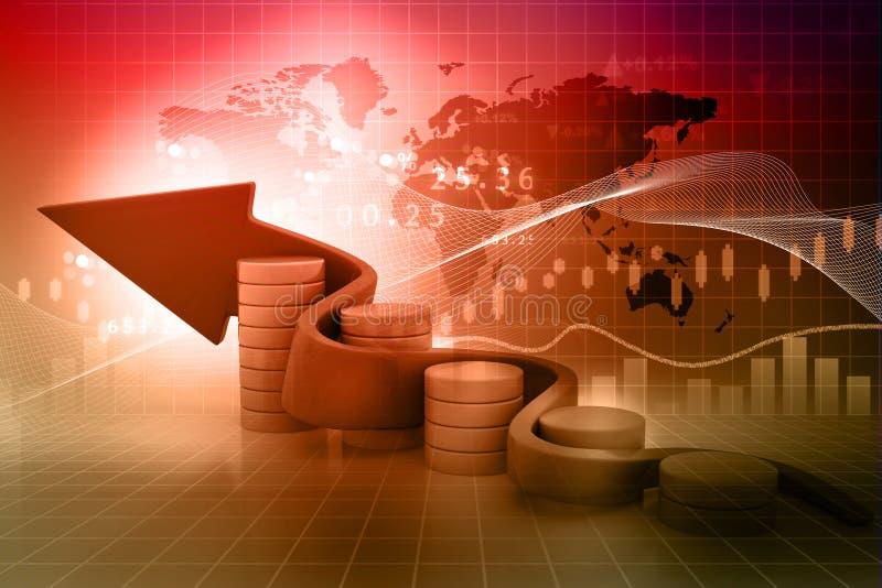 企业动态图形宏指令销售额 向量例证