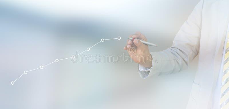 企业动态图形宏指令销售额 免版税库存图片