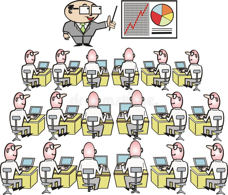 企业动画片培训 向量例证