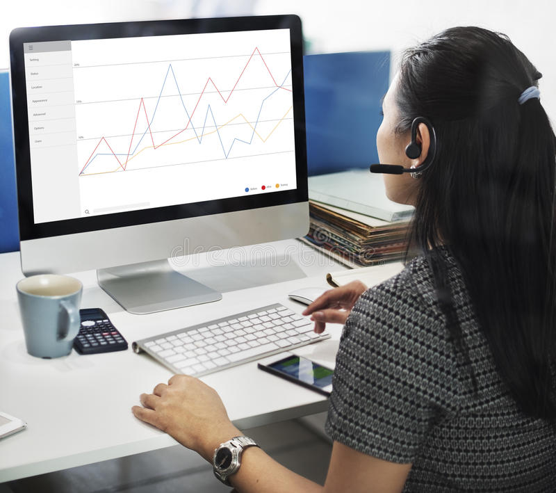 企业反馈结果回顾调查概念 免版税图库摄影