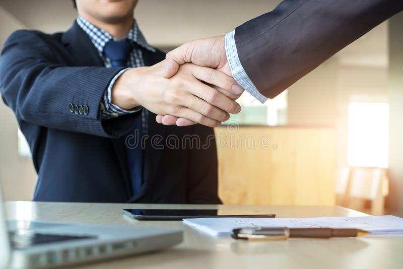 企业合作会议概念 商人的图象 免版税库存图片