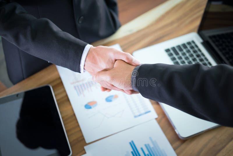企业合作会议概念 免版税库存照片