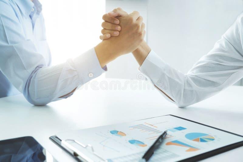 企业合作会议概念 图库摄影
