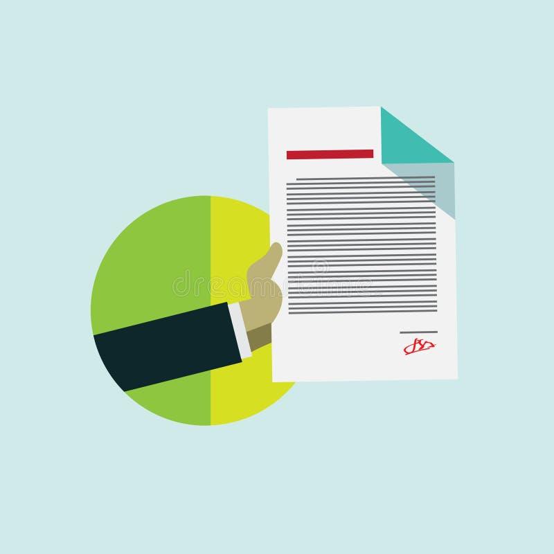 企业合同的平的设计观念 皇族释放例证