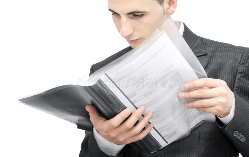 企业合同 免版税图库摄影