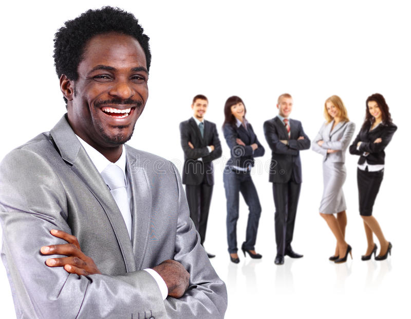 企业同事一起供以人员身分 免版税库存图片