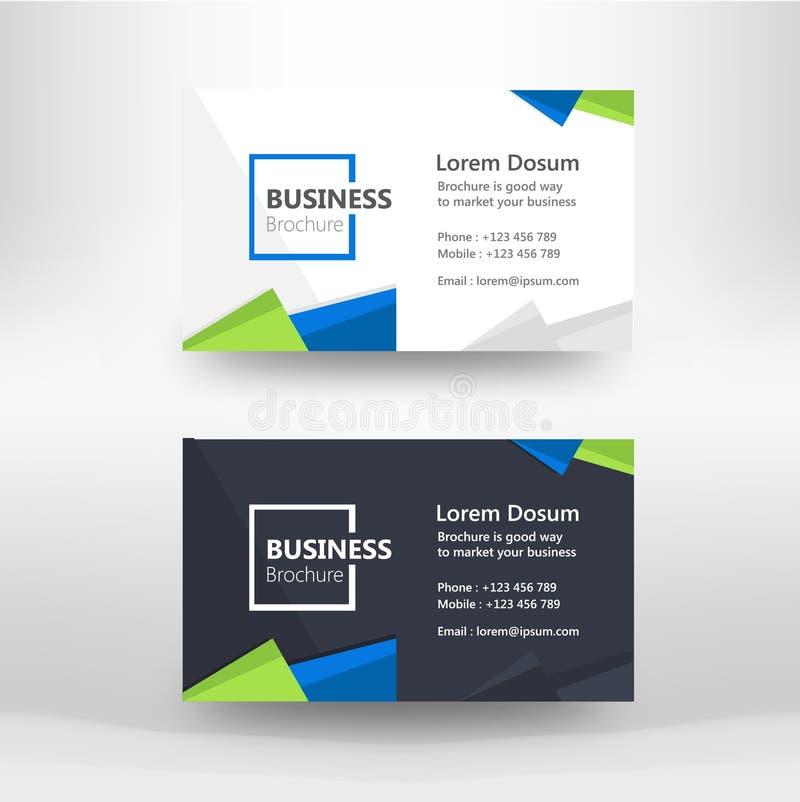 企业名片现代设计的模板 免版税库存照片