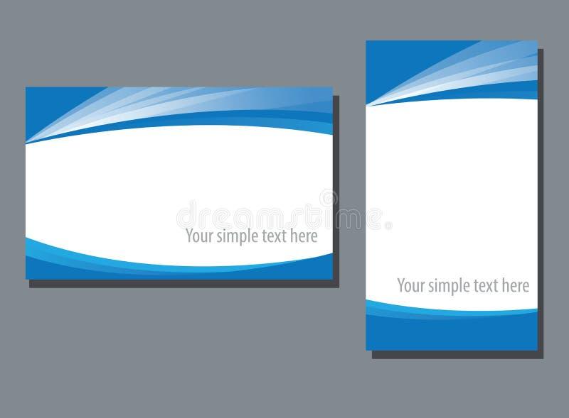 企业名称卡片模板 皇族释放例证