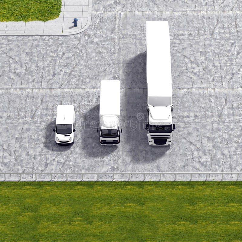 企业后勤运输服务例证 库存例证
