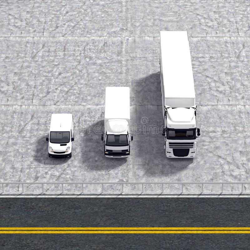 企业后勤运输服务例证 向量例证