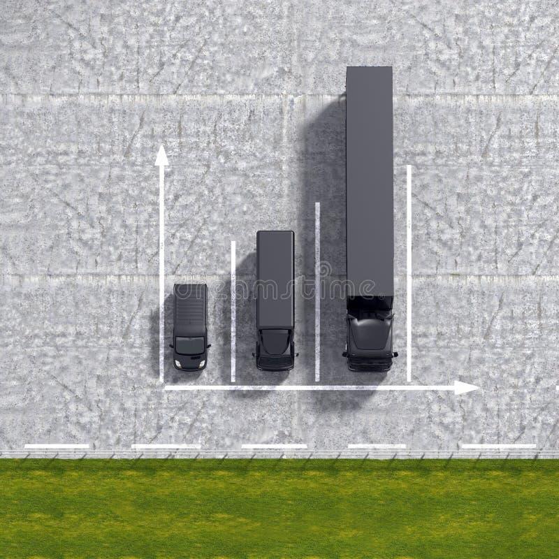 企业后勤运输黑色服务注标illustrati 库存例证