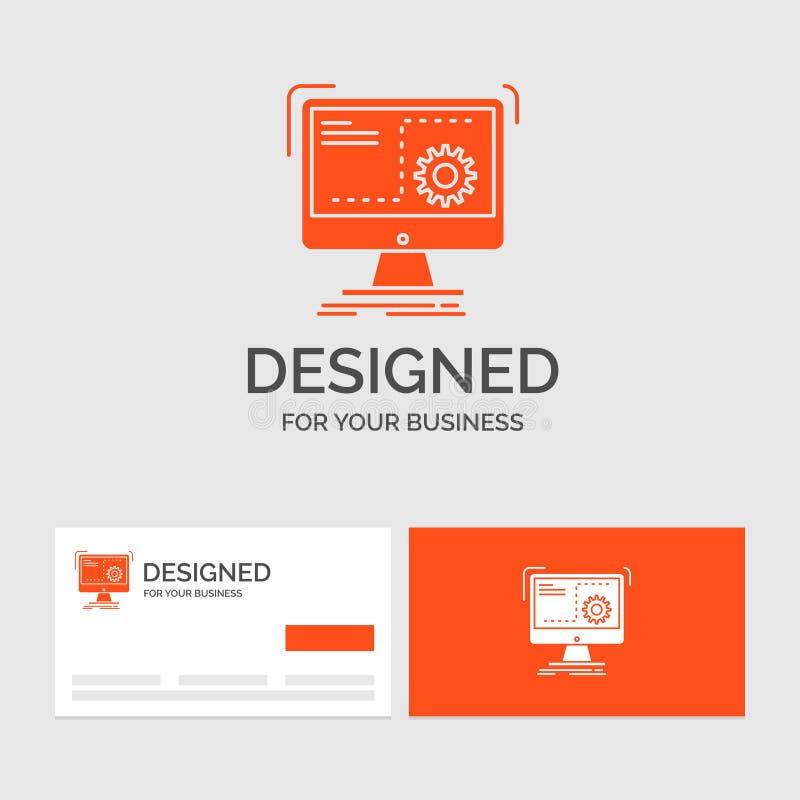 企业命令的商标模板,计算机,作用,过程,进展 r 皇族释放例证