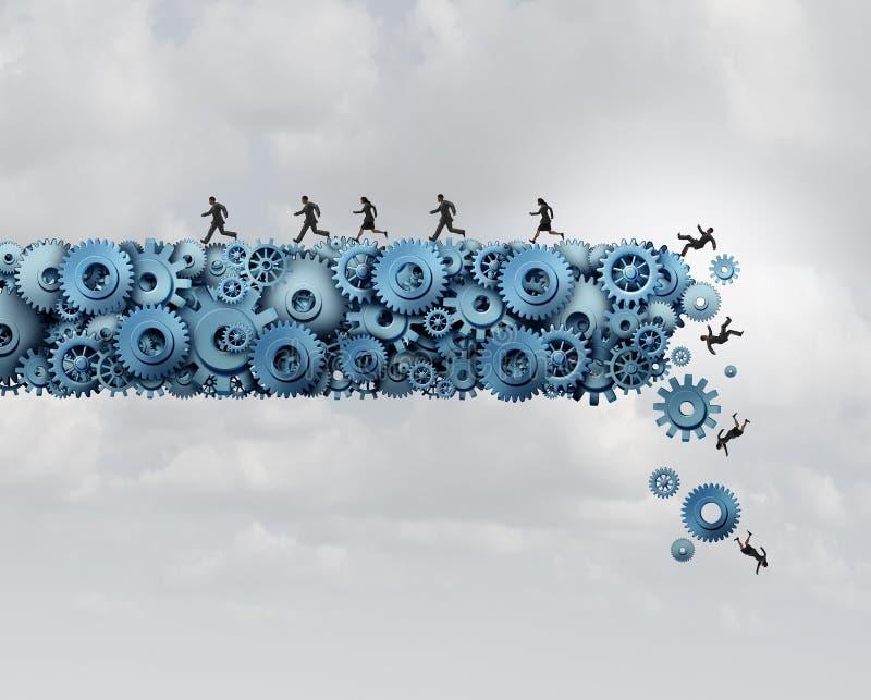 企业和产业风险 向量例证