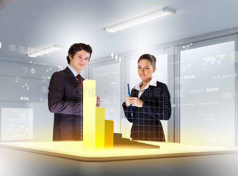 企业和创新技术 免版税库存照片
