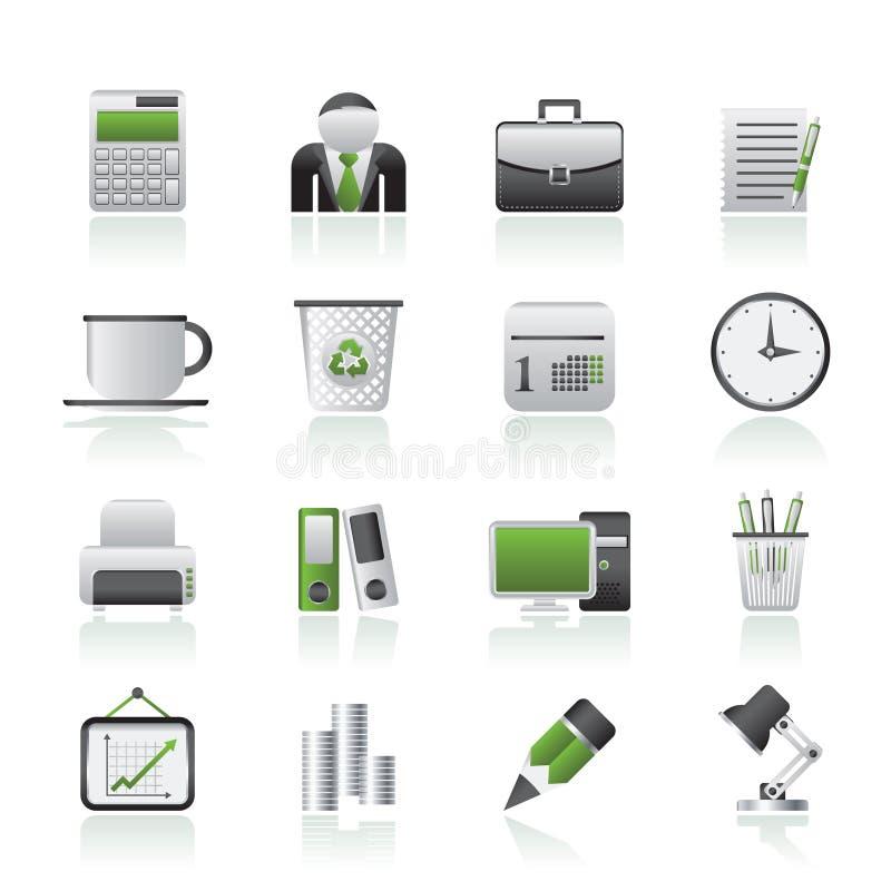 企业和办公室图标 库存例证