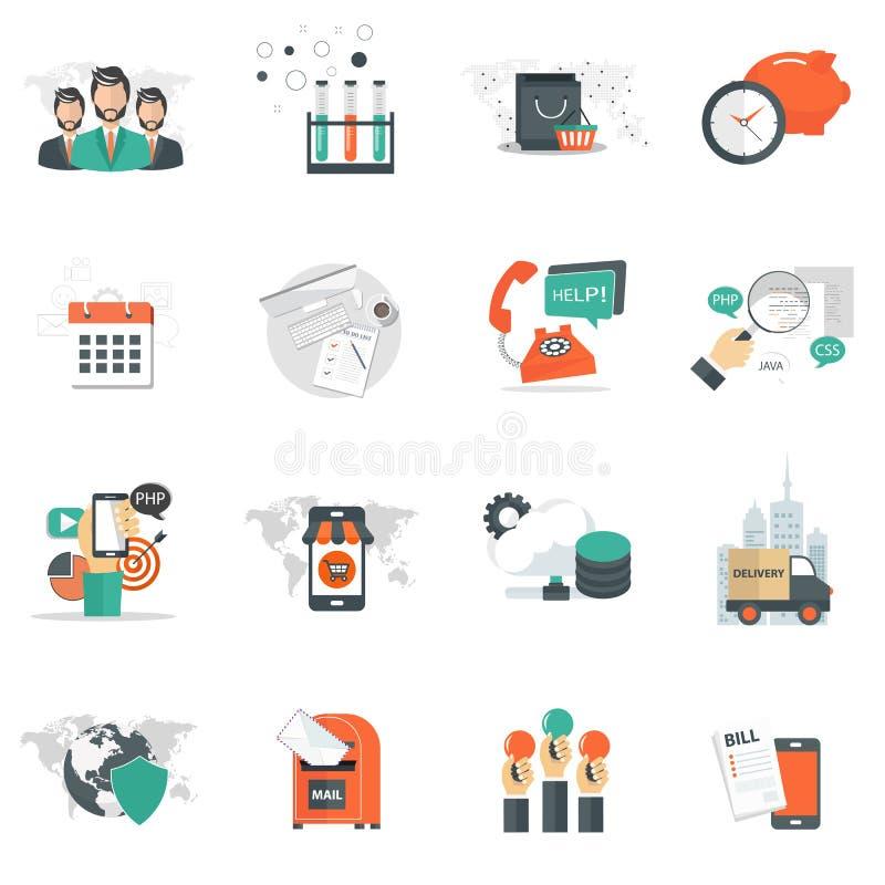 企业和管理象为网站发展和手机服务和apps设置了 皇族释放例证
