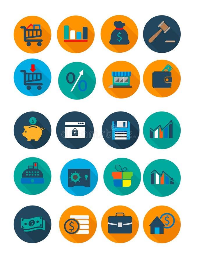 企业和财务图标 库存例证