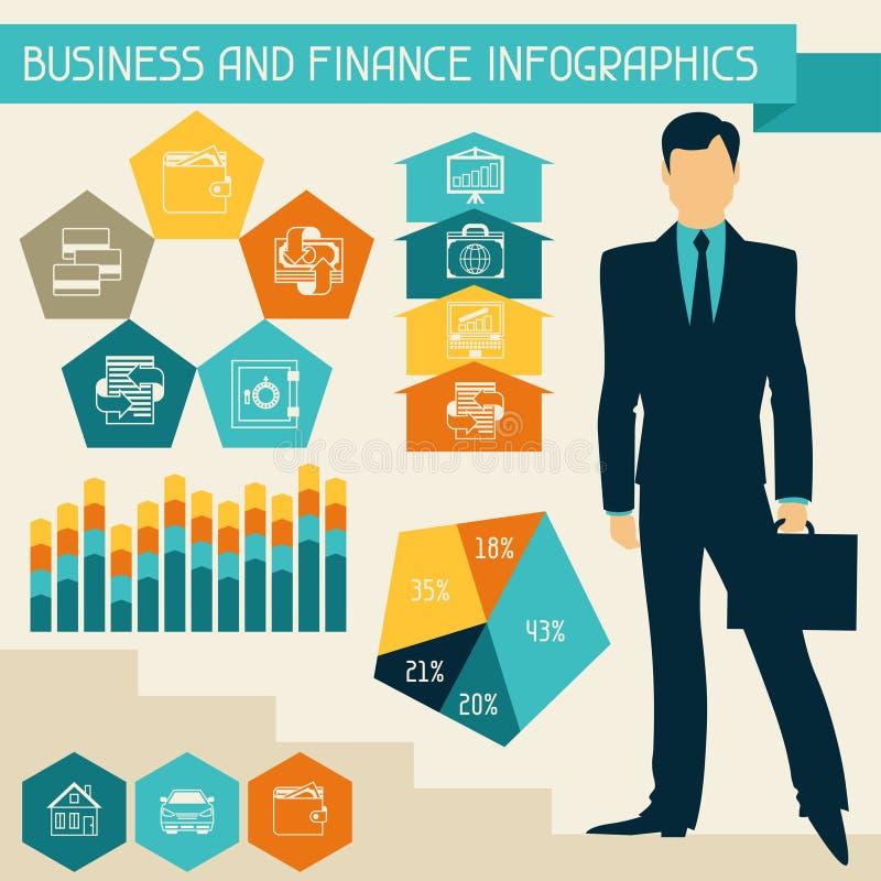 企业和财务infographics 库存例证