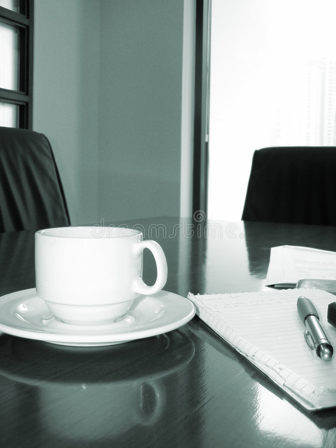 企业咖啡会议 免版税库存图片