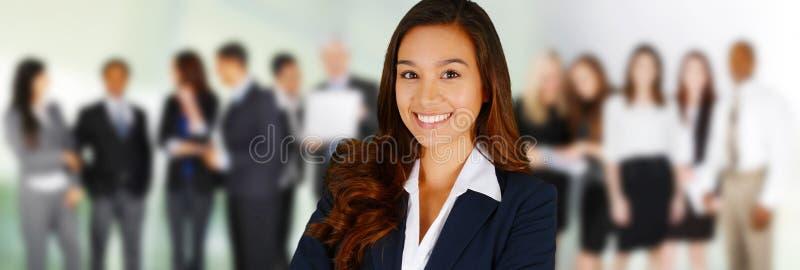 企业咖啡夫人人扩音机小组 免版税库存图片