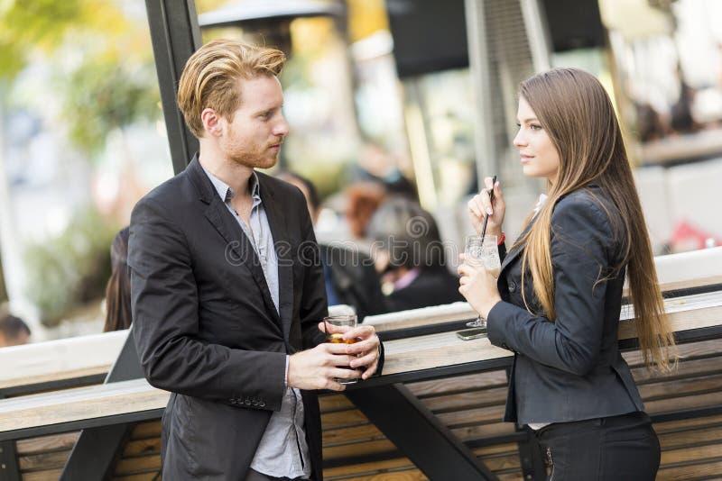 企业咖啡饮用的人员 免版税库存照片