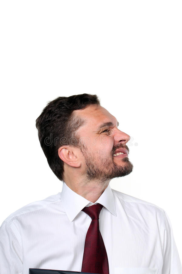 企业咧嘴笑的人 免版税库存图片