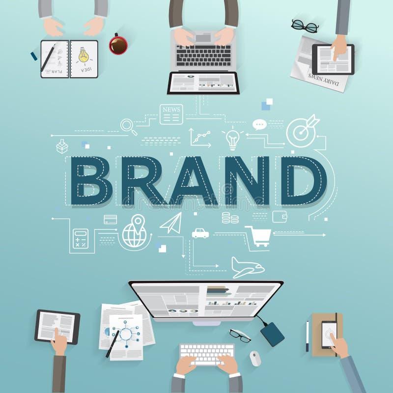 企业品牌的传染媒介创造性的例证 向量例证
