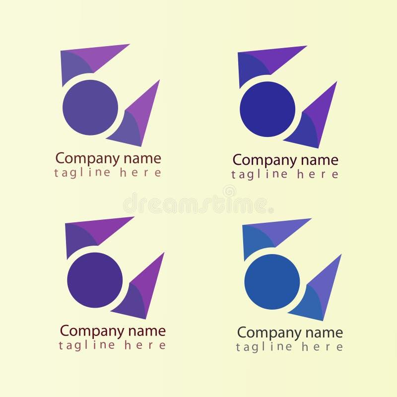 E 企业商标,您的公司的象 库存例证