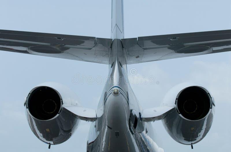 企业喷气机尾标 图库摄影