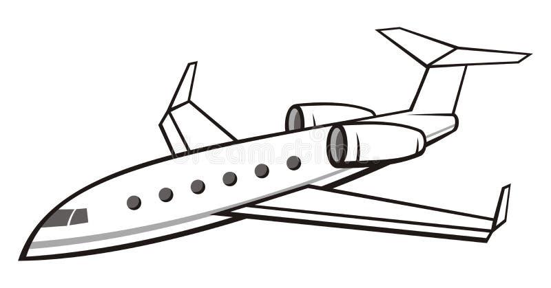 企业喷气机 皇族释放例证
