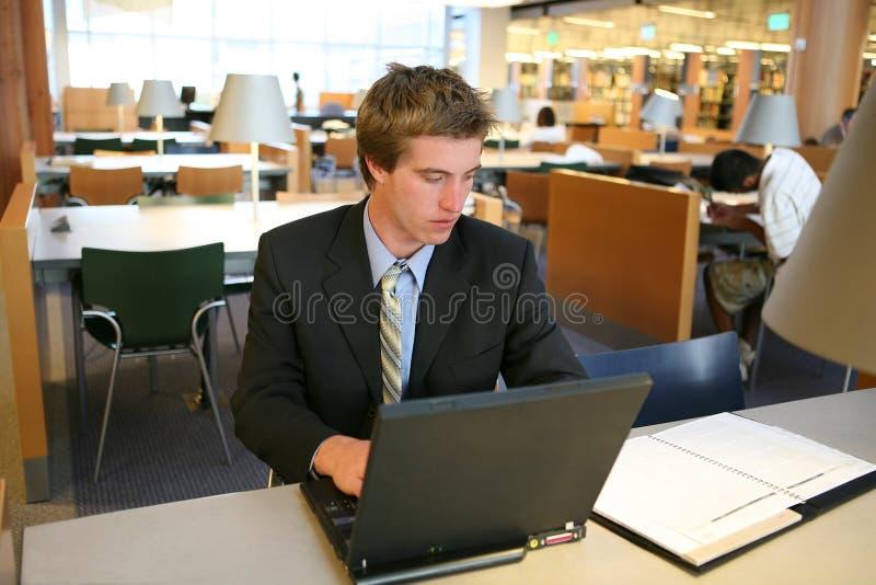 企业图书馆人 库存照片