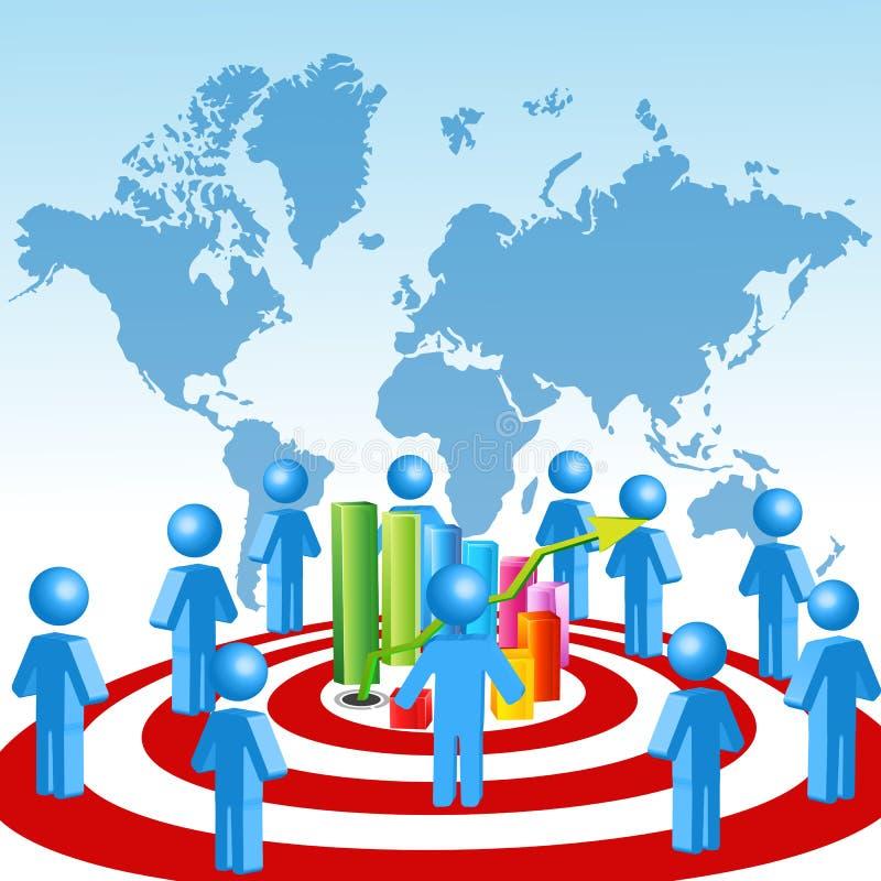 企业图形增长人 向量例证