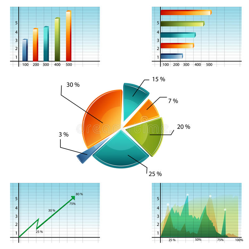 企业图形 库存例证