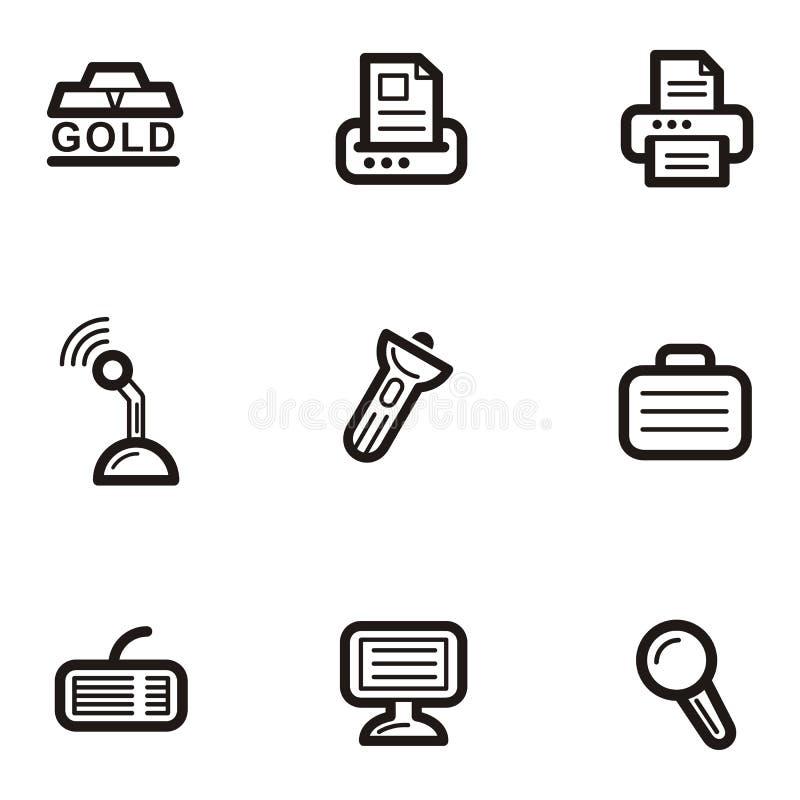 企业图标无格式系列 库存例证
