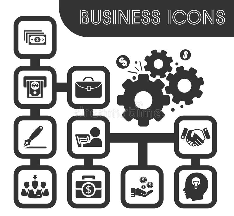 企业图标设置了 库存例证