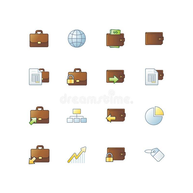 企业图标项目 库存例证