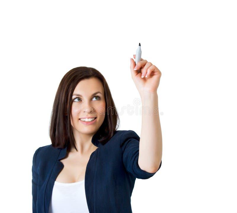 企业图画某事妇女 免版税图库摄影