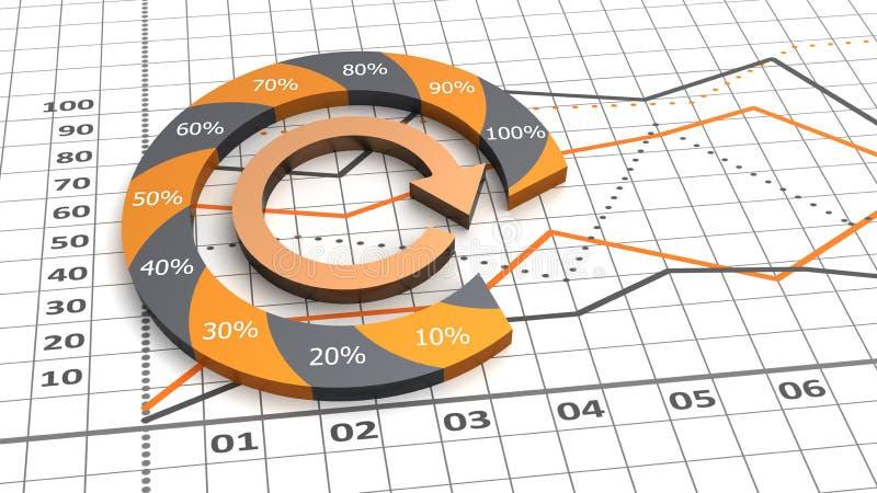 企业图表五颜六色的进程 皇族释放例证