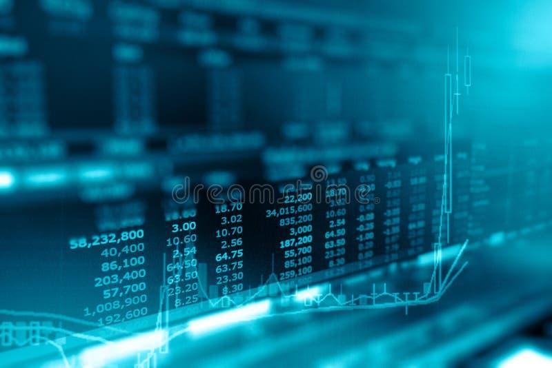 企业图表和投资贸易显示器在cryptocurrency的 免版税库存照片