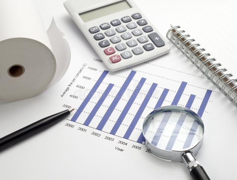 企业图表图形股票 免版税库存图片