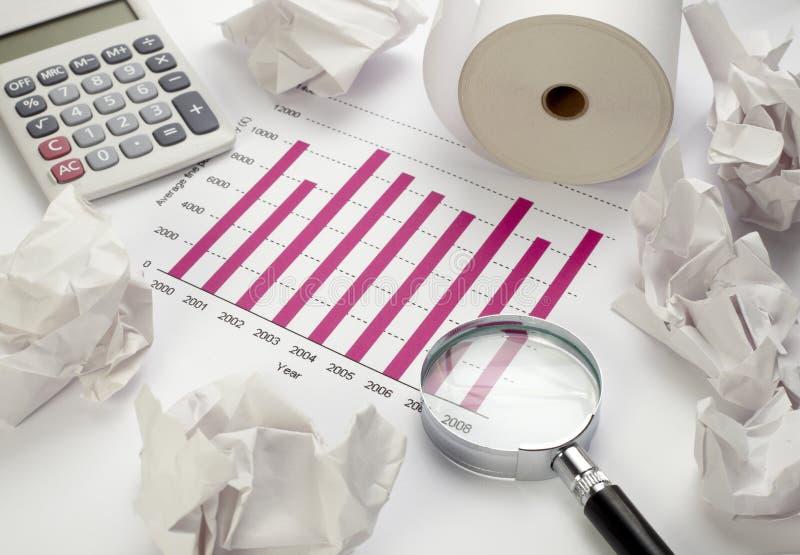 企业图表图形股票 免版税库存照片